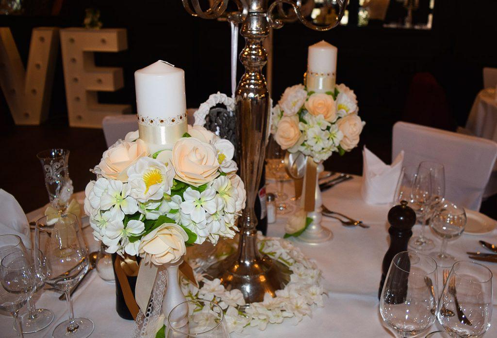 Kerzen für die Hochzeit - Hochzeitskerzen - Hochzeitsdekoration - Blumenkugeln - Dekohochzeitskugeln