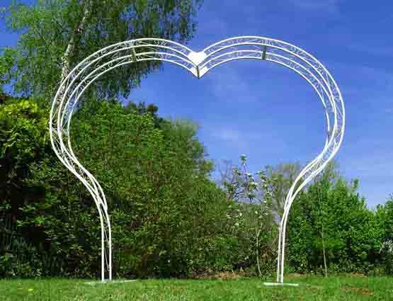 Hochzeitbogen Mia mieten herzförmig ohne Deko, Herzbogen, Hochzeitsdekoration mieten, Rund um Ihre Hochzeit, Wedding