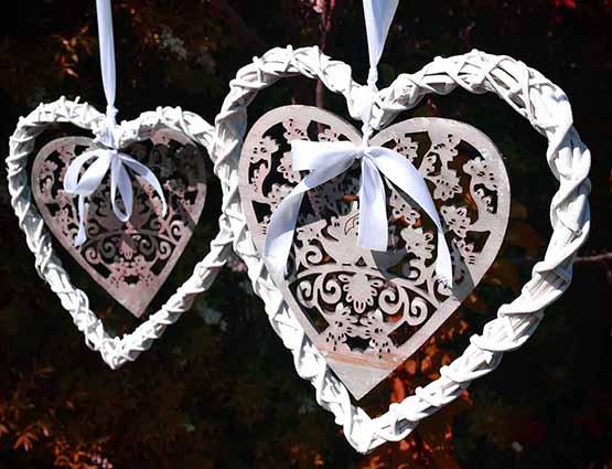 Rund um die Hochzeit Vintage Herzen