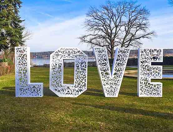 Love Buchstaben XXL 1.4m Rund um Ihre Hochzeit