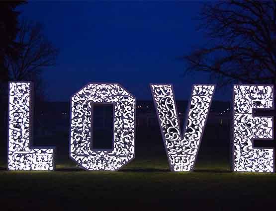 Love Buchstaben XXL 1.4m Rundum Ihre Hochzeit