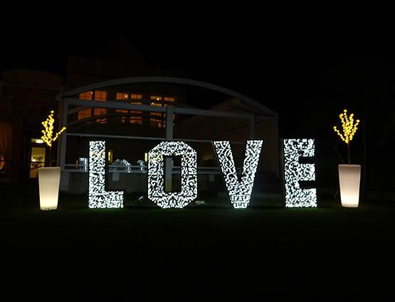 Leuchtende Love Buchstaben Hochzeitstdeko mieten in Berlin, Hochzeitsdekoration mieten, Hochzeit mieten, Rund um die Hochzeit