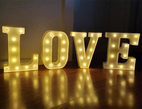 Leuchtende Buchstaben mieten Hochzeitdeko mieten berlin, Hochzeitsdekoration mieten - Hochzeit mieten, Rund um Ihre Hochzeit berlin