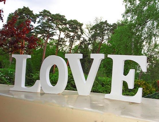 Love Buchstaben mieten, Rund um Ihre Hochzeit, Candy BAr mieten, Candy Bar Deko mieten, Hochzeitsdekoration