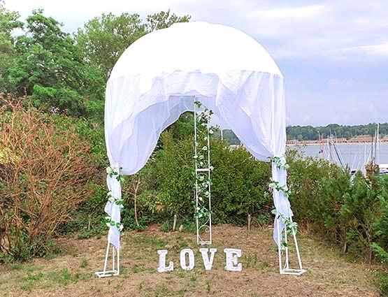 Hochzeitbogen in Berlin mieten herzförmig ohne Deko, Herzbogen, Hochzeitsdekoration mieten, Rund um Ihre Hochzeit, Wedding
