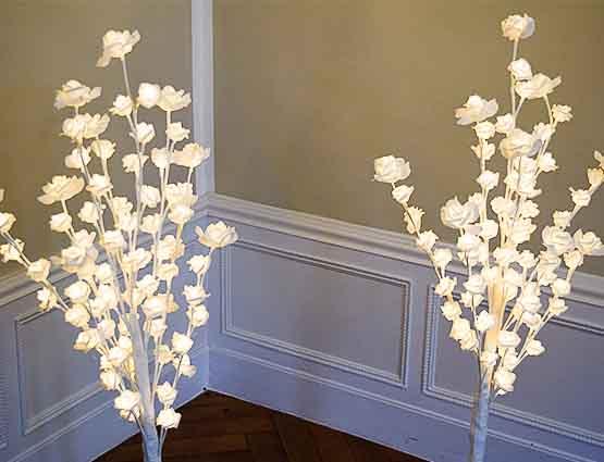LED Hochzeitsdeko, Leuchtende Rosenbäume mieten, Hochzeitsdekoration mieten, Hochzeit mieten, Rund um Ihre Hochzeit Berlin