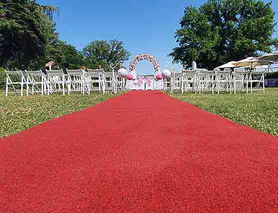 Roter Hochzeitsteppich mieten Berlin, Teppich mieten, rund um Ihre Hochzeit Verleih, Hochzeitsdeko mieten, Hochzeitsdekoration mieten Berlin