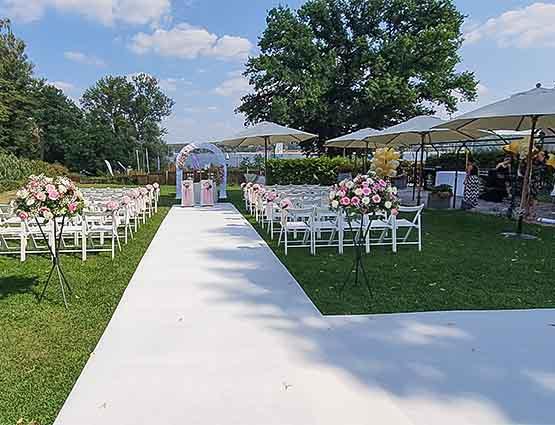 Weißer Teppich mieten Hochzeit, Hochzeitsteppich mieten, rund um Ihre Hochzeit, Hochzeitsdeko mieten