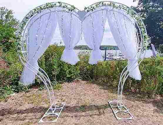 Herzbogen Mia mieten Herzform, Herzbogen, Hochzeitsdekoration mieten, Rund um Ihre Hochzeit, Wedding