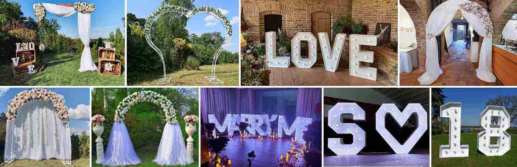 Rund um Ihre Hochzeit in Berlin, XXL Buchstaben. Hochzeitsbögen